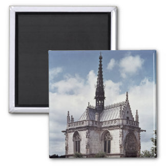 Chapelle Saint-Hubert of the Chateau Amboise Square Magnet