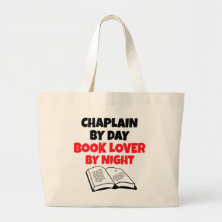 Chaplain Book Lover Large Tote Bag