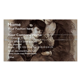 Chapman Sisters, 'Violets of the Stage' Retro Thea Business Card Template