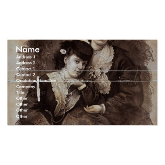 Chapman Sisters, 'Violets of the Stage' Retro Thea Business Card
