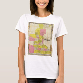 Chapman's New Sectional Map of Minnesota (1856) T-Shirt