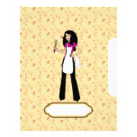 Chapter Divider Sheets for Recipe Binder Personalized Letterhead