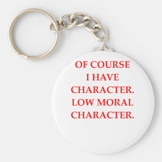 CHARACTER BASIC ROUND BUTTON KEYCHAIN