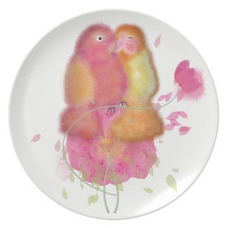 Character birds collection melamine plate. plate
