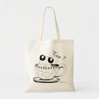 Character Collection - Tea? Frog in a Cup Tote Bag