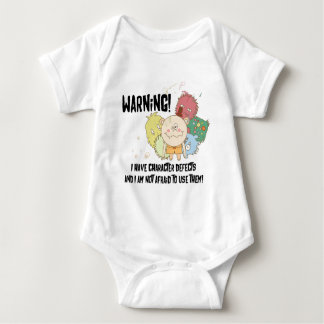 Character Defects on light apparel Baby Bodysuit