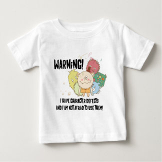 Character Defects on light apparel Baby T-Shirt