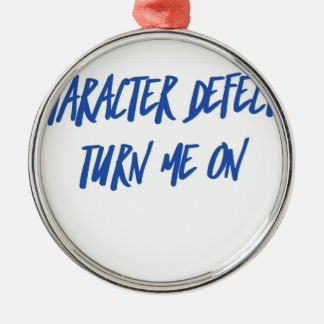 Character Defects Recovery Sober Drunk Metal Ornament