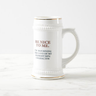 Character Mourning 18 Oz Beer Stein