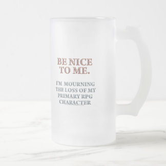 Character Mourning Frosted Glass Mug