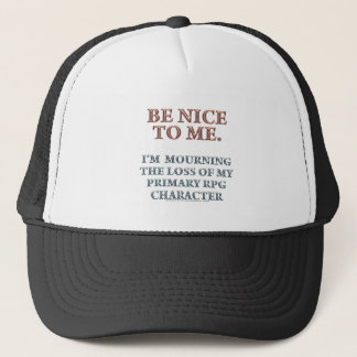 Character Mourning Trucker Hat