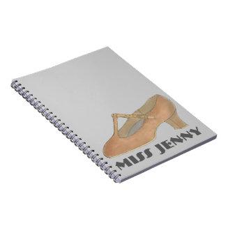 Character Shoe Dancer Dance Teacher Gift Notebook
