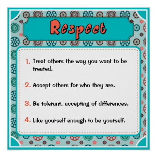 Character Traits Posters, Respect - 1 of 6 Poster