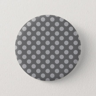 Charcoal and Gray Polka Dots 2 Inch Round Button