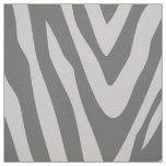 Charcoal and Grey Zebra Print Large Scale Fabric