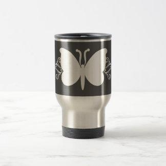 Charcoal Butterfly Swirls Mug