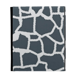 "Charcoal Color Giraffe ""animal print"" iPad Case"