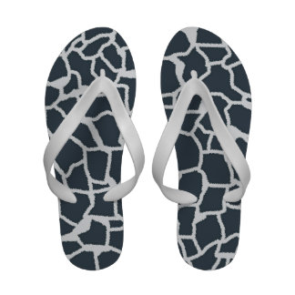 Charcoal Color Giraffe animal print Sandals