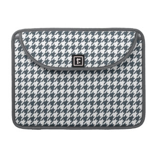 Charcoal Color Houndstooth MacBook Pro Sleeve