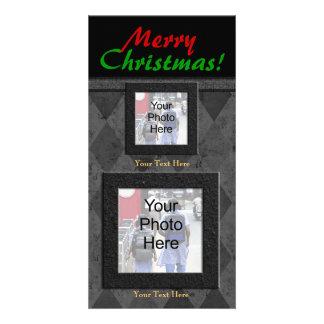 Charcoal Diamone Merry Christmas Card
