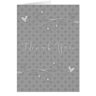 Charcoal Dots : : Designer Thank You Cards