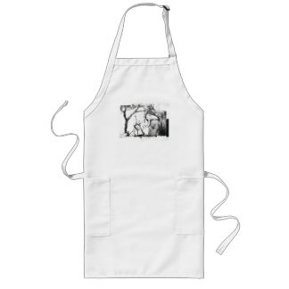 Charcoal Fantasy Long Apron