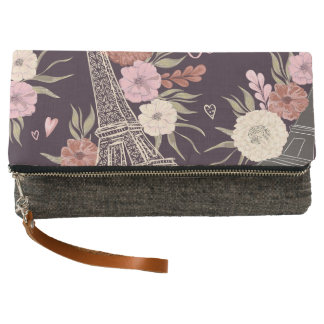 Charcoal Fold Over Clutch