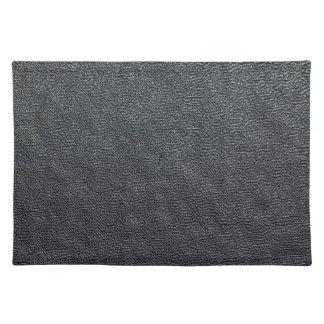 Charcoal Grain Faux Leather Placemat