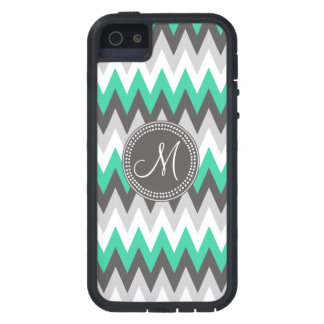 CHARCOAL GRAY AND GREEN CHEVRON iPhone 5 COVERS
