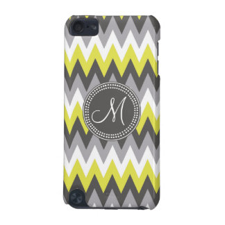 CHARCOAL GRAY AND YELLOW CHEVRON iPod TOUCH 5G COVER