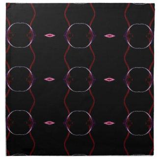 Charcoal Gray Hot Pink Seamless Pattern Napkin