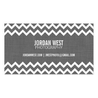 Charcoal Gray Modern Chevron Business Card