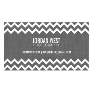 Charcoal Gray Modern Chevron Pack Of Standard Business Cards