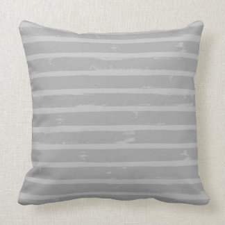 Charcoal Gray Stripe Accent Pillow