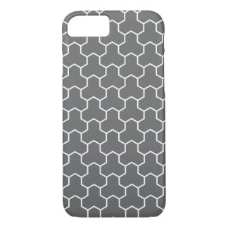 Charcoal Gray Tri-Hex Tiled Phone Case