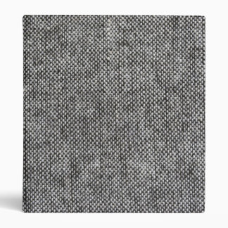 Charcoal Gray Tweed Fabric Texture Pattern 3 Ring Binders