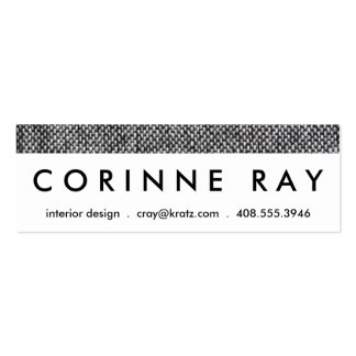 Charcoal Gray Tweed Fabric Texture Pattern Mini Business Card