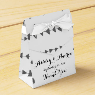 Charcoal Gray White Aztec Arrows Pattern Favor Box