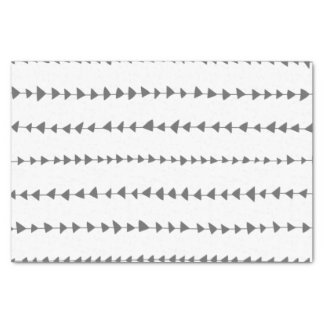Charcoal Gray White Aztec Arrows Pattern Tissue Paper