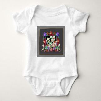 Charcoal Grey Color Iris Garden Gifts Baby Bodysuit