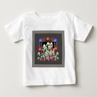 Charcoal Grey Color Iris Garden Gifts Baby T-Shirt