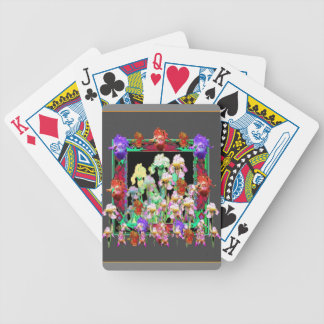 Charcoal Grey Color Iris Garden Gifts Poker Deck