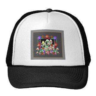 Charcoal Grey Color Iris Garden Gifts Trucker Hat