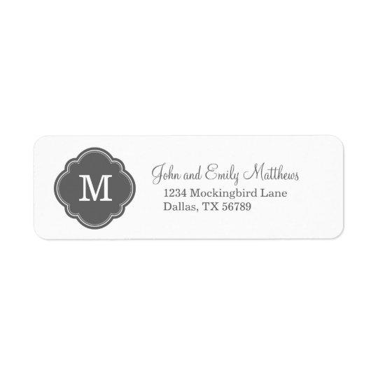 Charcoal Grey Custom Personalized Monogram