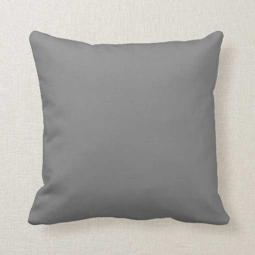 Charcoal Grey Customizable Designs Color Only Pillows