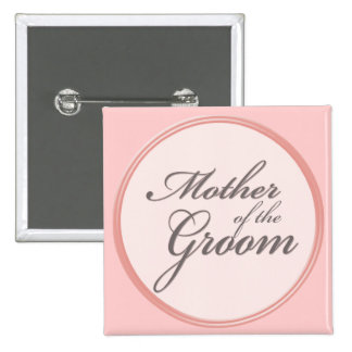 Charcoal grey light pink Mother of the Groom 2 Inch Square Button
