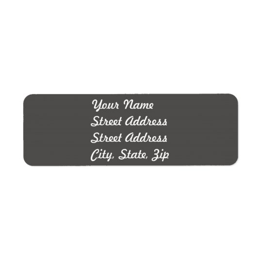 Charcoal Grey Return Address Sticker Return Address Label