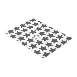 Charcoal Grey & White Stars Door Mat