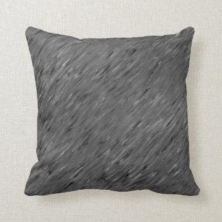 Charcoal Grey Wind Texture Lumbar n Throw Pillows
