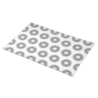 Charcoal Modern Sunbursts Placemat